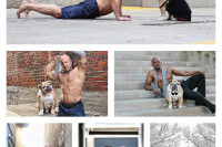 Man posing with his dog